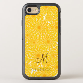 Sunny dandelions floral pattern monogram OtterBox symmetry iPhone 8/7 case