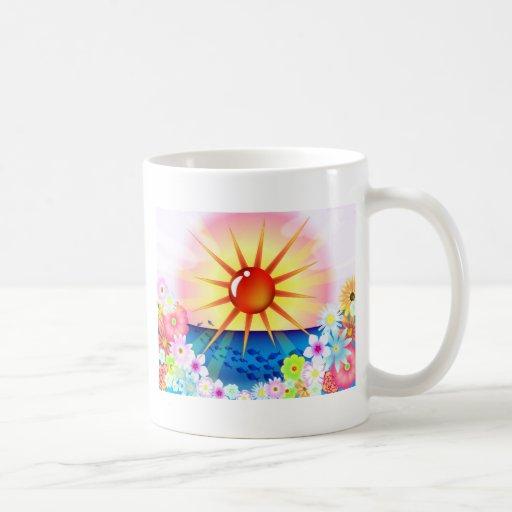 Sunny Day and Sea Mugs