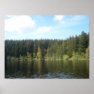 Sunny Day at Lake Padden Poster
