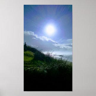 Sunny Day at Oregon Coast Poster