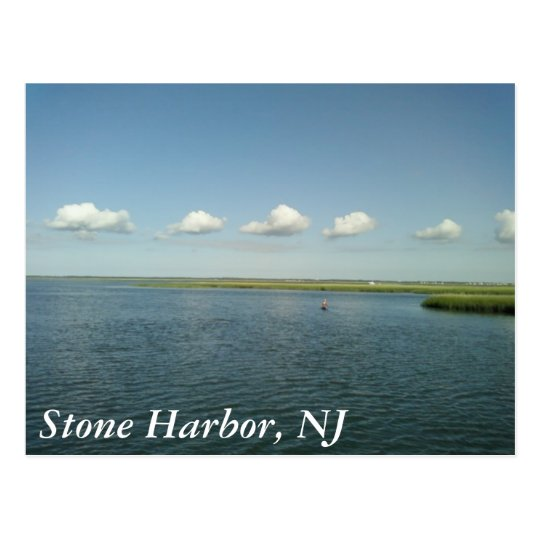 sunny day at the shore, Stone Harbour, NJ Postcard