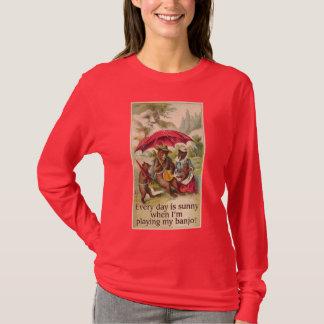 Sunny Day Bear Ladies dark long sleeve T-Shirt
