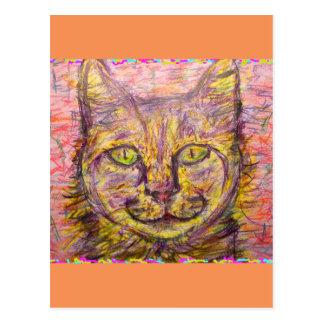 sunny day cat postcard