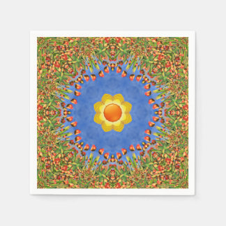 Sunny Day Colorful Cocktail Napkins Paper Napkins