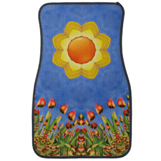 Sunny Day Colorful Vintage  Car Mats  Front