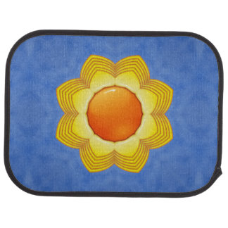Sunny Day Colorful Vintage  Car Mats  rear