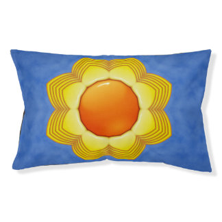Sunny Day Colorful  Vintage Kaleidoscope Dog Bed