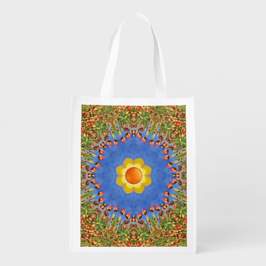 Sunny Day Colourful Reusable Bags Market Totes