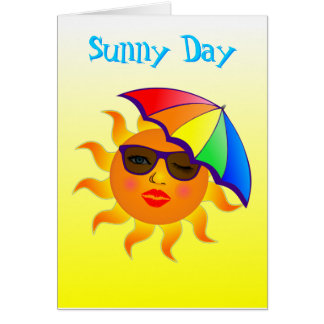 Sunny Day Drink Recipe Greeting Card