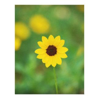 sunny day flower custom letterhead