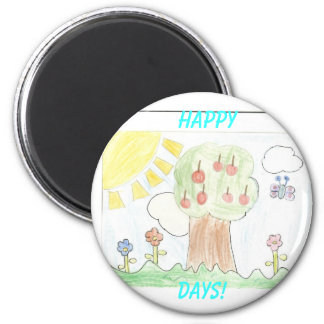 Sunny Day, Happy, Days! Magnet