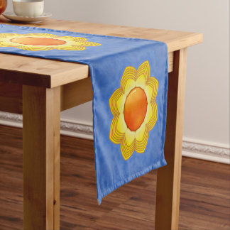 Sunny Day Kaleidoscope   Colorful Table Runner