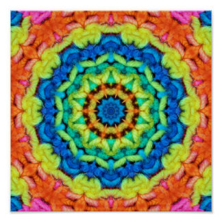 Sunny Day Kaleidoscope Poster