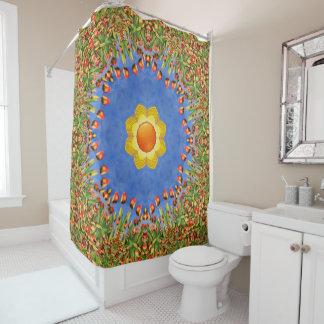 Sunny Day Kaleidoscope Shower Curtain