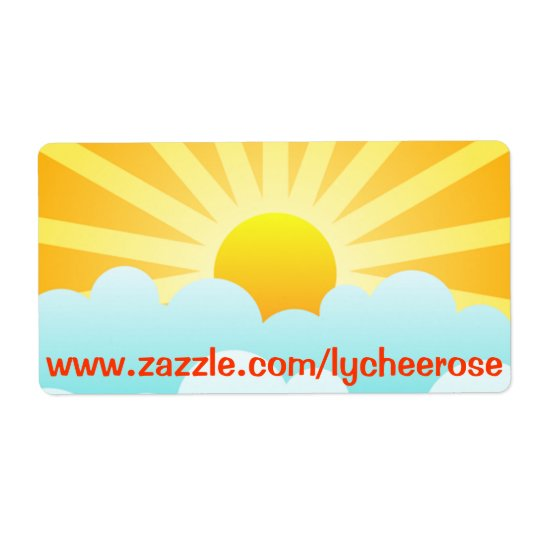 Sunny day label shipping label