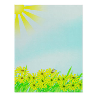 Sunny Day Scrapbook Pages Stationary