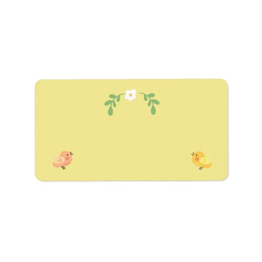 Sunny Day Songbirds Large Yellow Address Labels