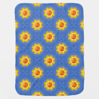 Sunny Day  Tiled Design Baby Blankets