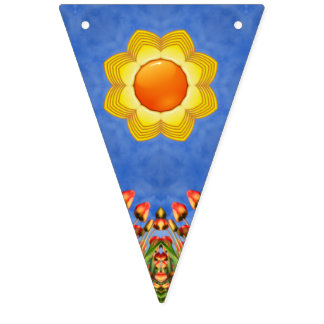 Sunny Day  Vintage Kaleidoscope    Flags