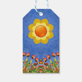Sunny Day Vintage Kaleidoscope  Gift Tags