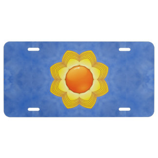 Sunny Day Vintage Kaleidoscope    License Plates