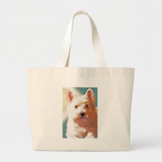 SUNNY DAYS WESTIE LARGE TOTE BAG
