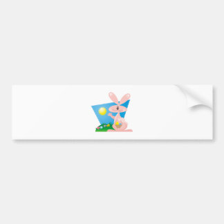 Sunny Easter Bunny Bumper Stickers
