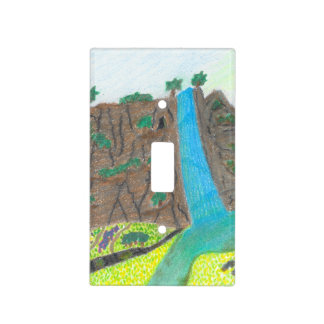 Sunny Falls Cliff and Meadow Light Switch Cover