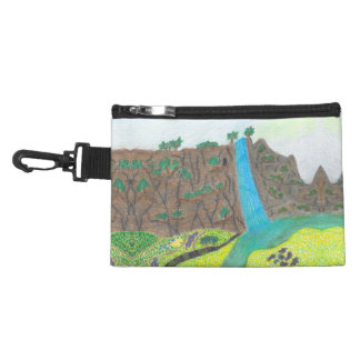 Sunny Falls Cliff and Meadow Scenic Accessory Bag