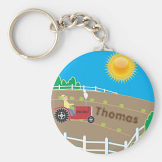 Sunny Farm Basic Round Button Keychain