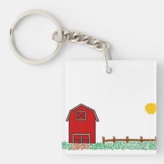 Sunny farm keychain