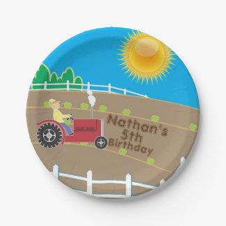 Sunny Farm Paper Plate