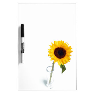 Sunny floral bright Sunflower flower photograph Dry Erase Board