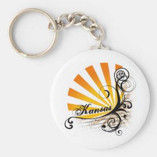 Sunny Floral Graphic Kansas Keychain