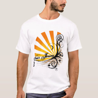 Sunny Floral Graphic New Jersey T-Shirt