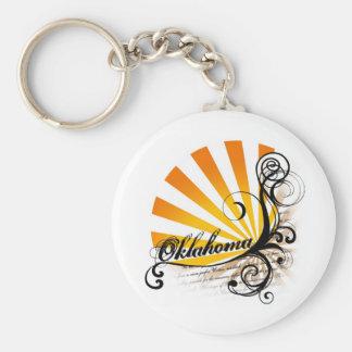 Sunny Floral Graphic Oklahoma Keychain