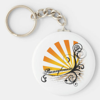 Sunny Floral Graphic Pennsylvania Keychain