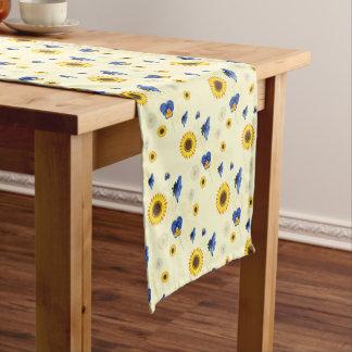 sunny floral short table runner