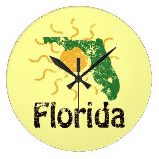 Sunny Florida Large Clock