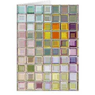Sunny Flower Glass Mosaic Tiles Custom Card