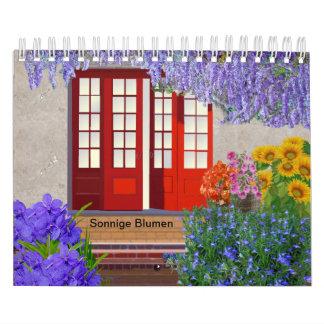 Sunny flowers calendar