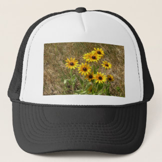 sunny flowers trucker hat