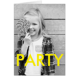 Sunny Fun Minimal Modern Kid's Photo Birthday Card