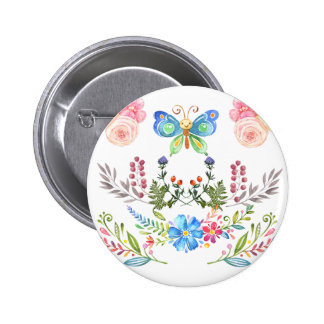 Sunny Garden-& Butterflies Multi products 2 Inch Round Button