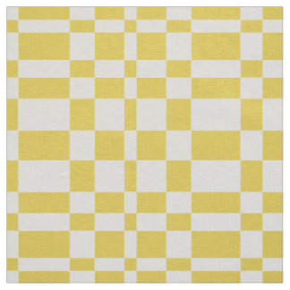 Sunny Geometric Retro Grid Fabric