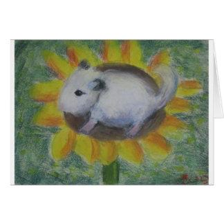 Sunny hamster card