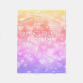 Sunny Heart Bokeh Fleece Blanket
