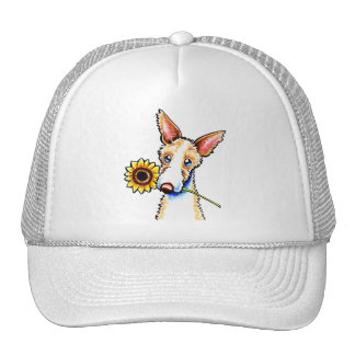 Sunny Ibizan Hound Wirehaired Off-Leash Art™ Trucker Hat
