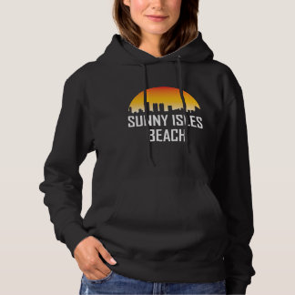 Sunny Isles Beach Florida Sunset Skyline Hoodie