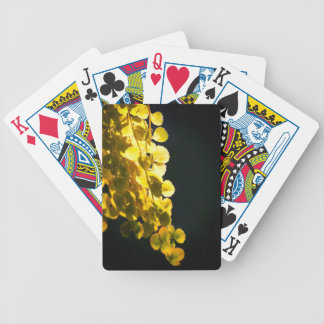 Sunny leaves bicycle playing cards